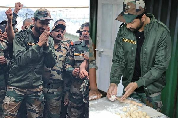 vicky kaushal reached at indo china border making chapati for jawans
