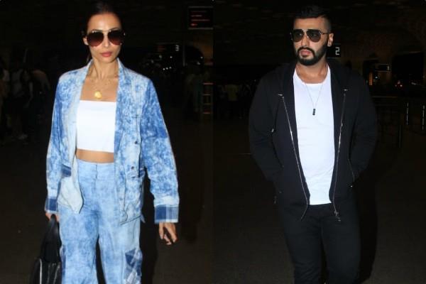 malaika arora arjun kapoor spotted at mumbai airport
