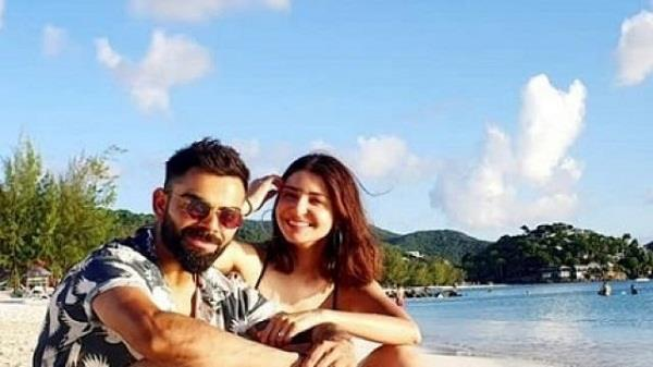 captain kohli anushka seen on the beach of windies pictures viral