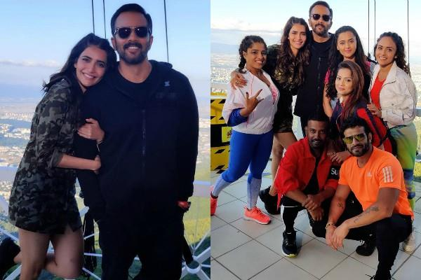 karishma tanna share pictures with host rohit shetty