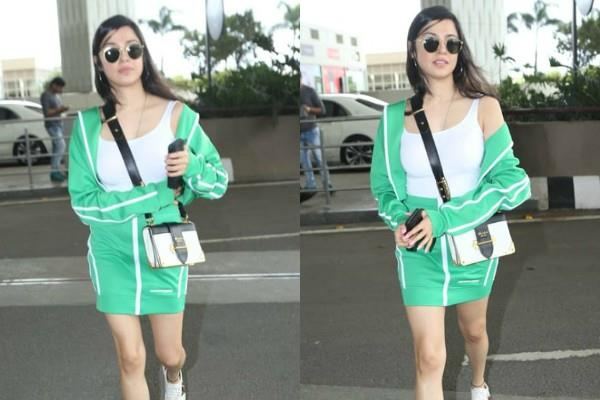 divya khosla kumar spotted at mumbai airport