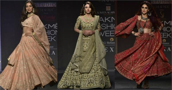 soha ali khan genelia dsouza neha sharma at lakme fashion week 2019