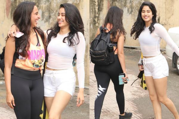 janhvi kapoor raised temperature in her gym wear