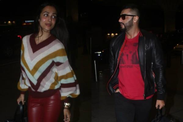 arjun kapoor spotted at airport with malaika arora