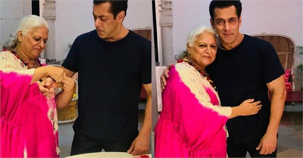 salman khan celebrates raksha bandhan with beena kak