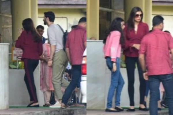 sushmita sen visits lilavati hospital with boyfriend rohman shawl