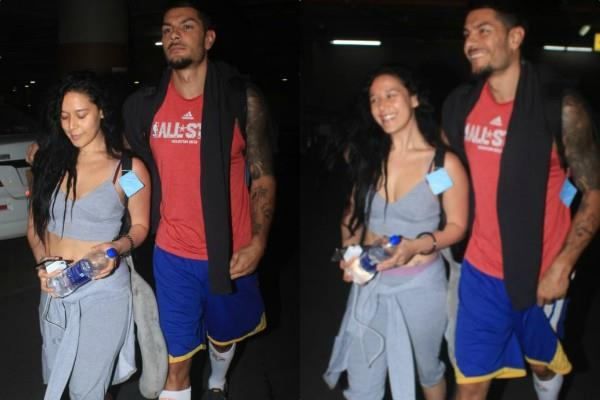 tiger shroff sister krishna shroff spotted at airport mystery boy