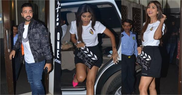 shilpa shetty enjoy dinner date with hubby raj kundra