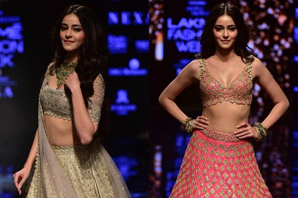 ananya pandey ramp walk on lakme fashion week 2019