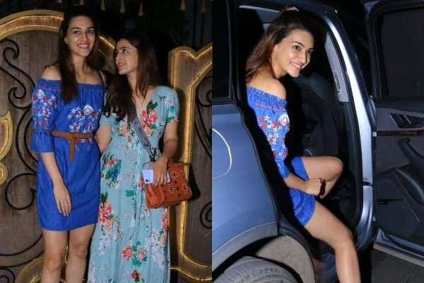kriti sanon spotted with sister nupur sanon at spa center in juhu