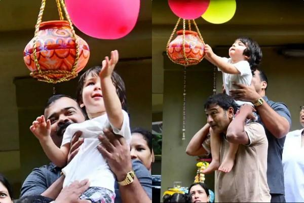 taimur ali khan celebrating dahi handi
