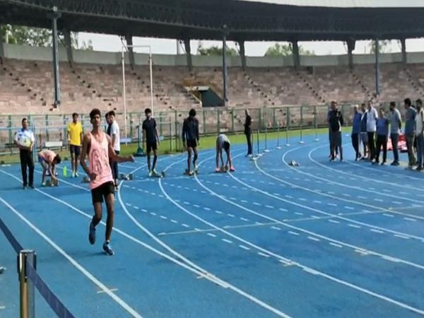 rameshwar flopped on the running track