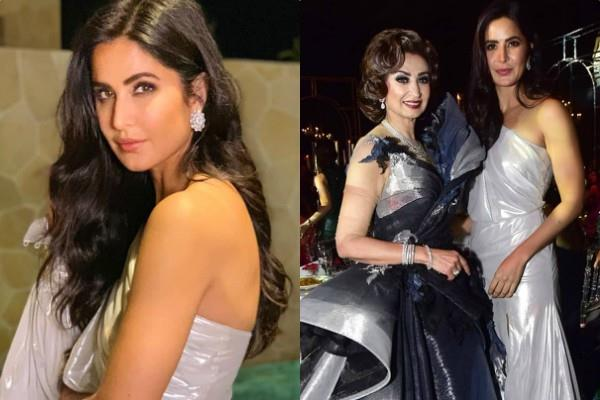 katrina kaif looks gorgeous in white thigh high slit gown