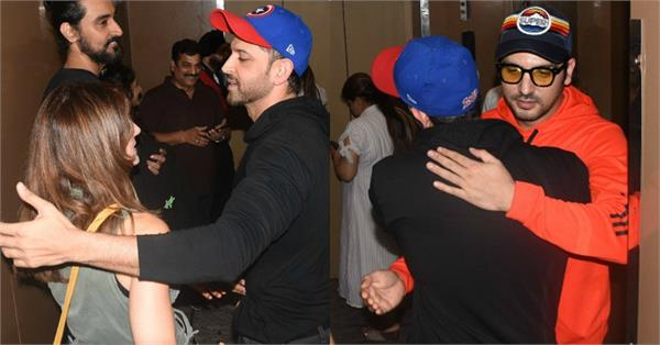 hrithik roshan enjoy movie night out with ex wife susanne khan