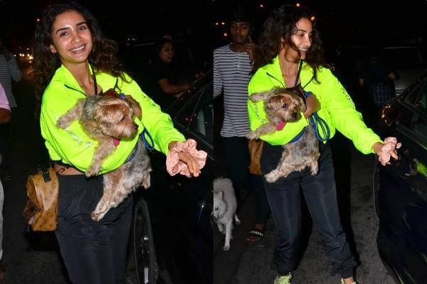 rajkummar rao girlfriend patralekha latest pictures with her dog