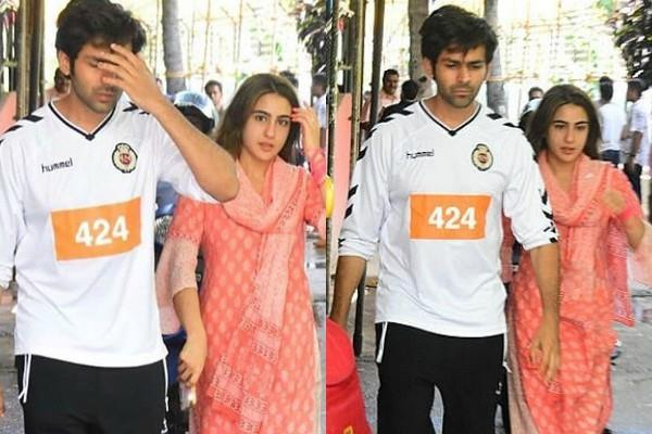 sara ali khan visits in mumbai hospital with kartik aaryan