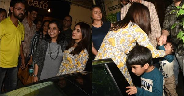 bhumi pednekar at farmer cafe bandra