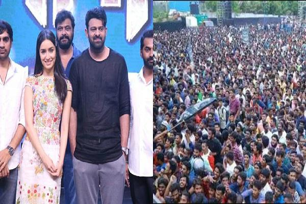 saho s team organizes pre release event at ramoji rao film city