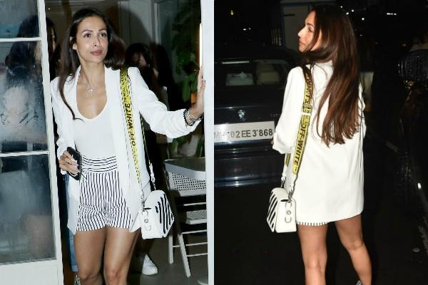 malaika arora spotted outside the sequel bistro restaurant with friends