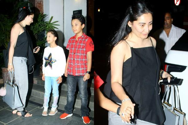 sanjay dutt wife manyata dutt spotted with kids