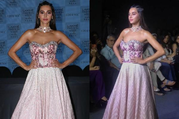 farhan akhtar girlfriend shibani dandekar stunning look at fashion show