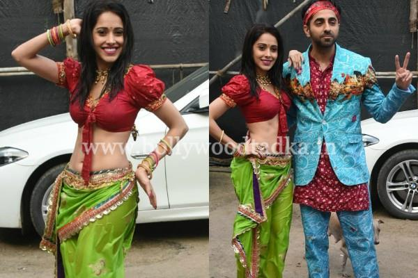 nushrat bharucha ayushmann khurrana promoting their movie dream girl