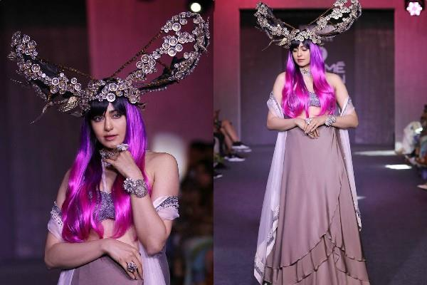 adah sharma weird look at lakme fashion week 2019