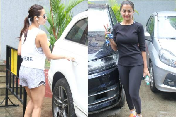 malaika arora amrita arora spotted at gym