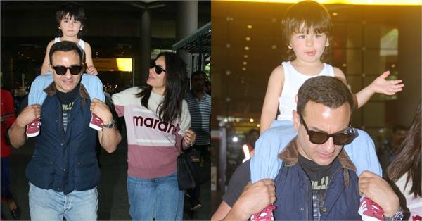 taimur return from london with kareena kapoor and saif ali khan