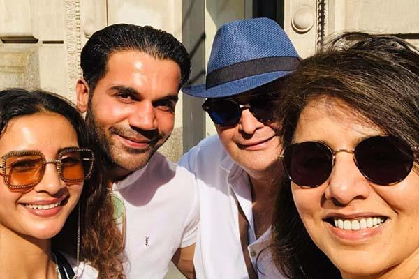 rajkummar rao and patralekha met rishi kapoor neetu kapoor in new york