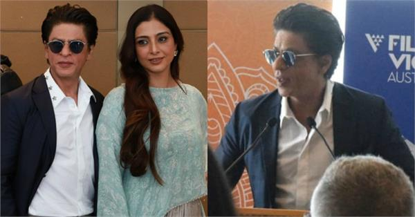 shahrukh khan tabu attend press conference indian film festival in melbourne