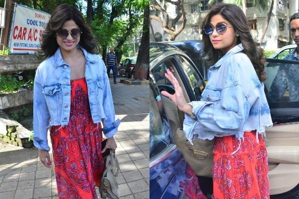 shamita shetty spotted outside salon in juhu