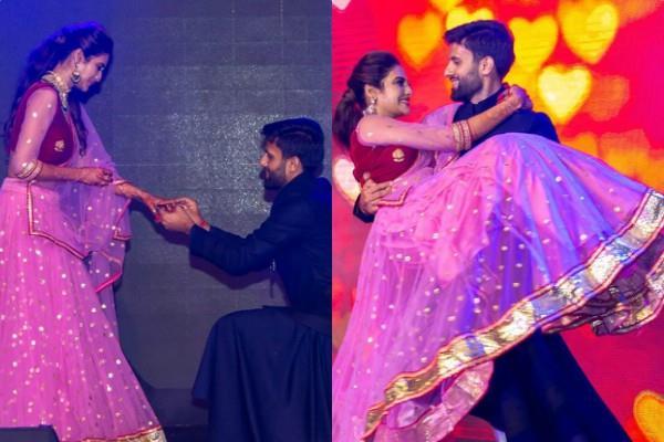 nusrat jahan nikhil jain sangeet ceremony unseen pictures viral