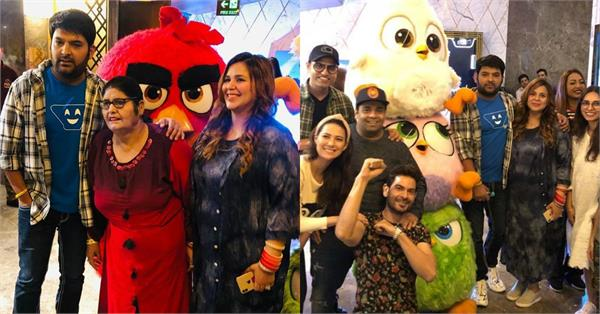 celebrities and family attend kapil sharma angry birds 2 special screening