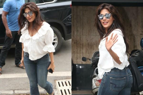 chitrangada singh look stylist as she spotted at outside saloon