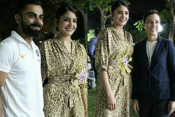 anushka attend dinner at the indian high commissioner residence with virat kohli