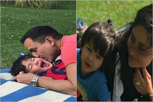 taimur ali khan enjoys some time with father saif ali khan