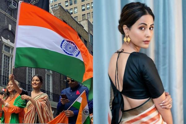 hina khan at india day parade in new york