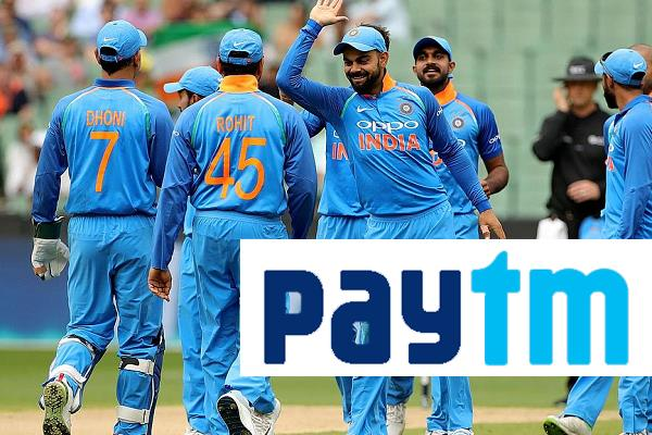 paytm get team india title sponsorship again in 326 80 crore rupee