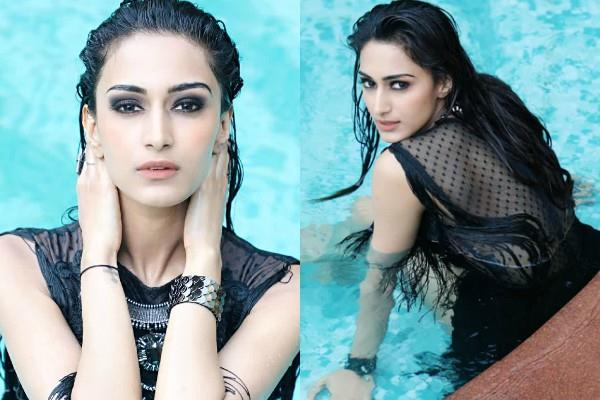 erica fernandes looks gorgeous in a black dress