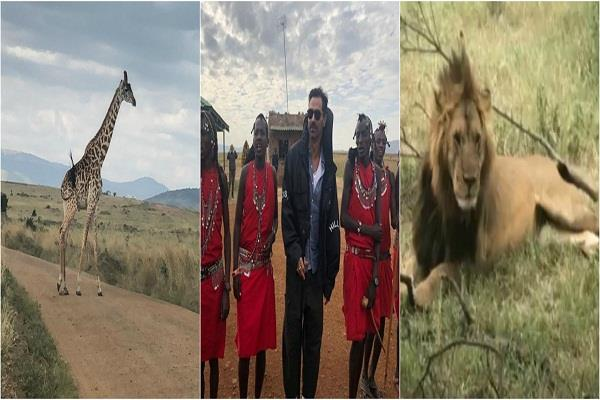 arjun rampal clicked photos with local tribes of kenya