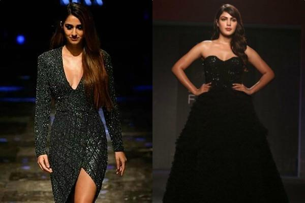rhea chakraborty and disha patani ramp the walk at lakme fashion week 2019