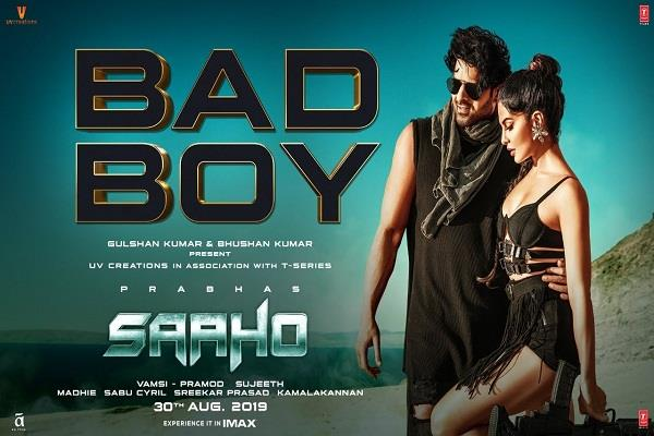 prabhas becomes bad boy in saaho s new song