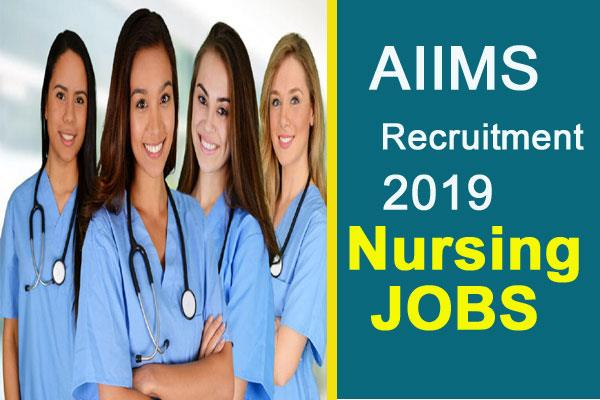 aiims delhi recruitment 2019 for nursing officer