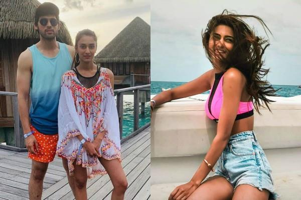 parth samthaan erica fernandes spent quality time in maldives