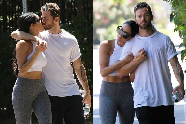 nikki bella spotted with boyfriend artem chigvintsev
