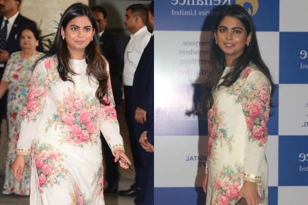 mukesh ambani daughter isha ambani looks stunning at reliance meeting
