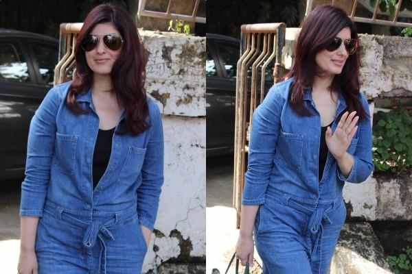 twinkle khanna spotted at kromakay salon in juhu
