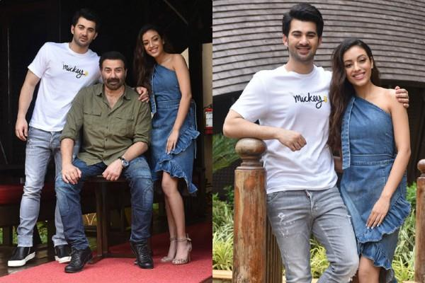 sunny deol and karan deol promotions with saher bamba