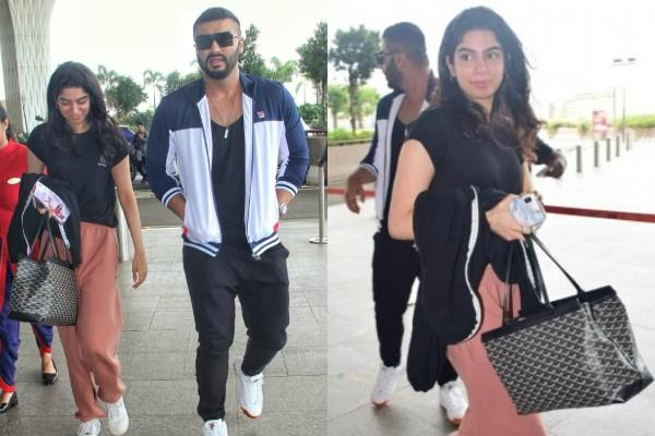 arjun kapoor spotted at airport with khushi kapoor